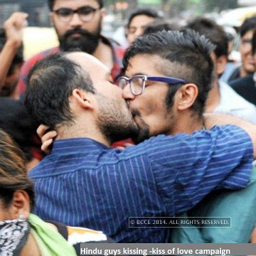 indian male kiss