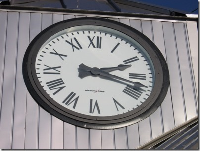 IMG_5074 TriMet Westside Express Service Station Clock in Tualatin, Oregon on January 15, 2009