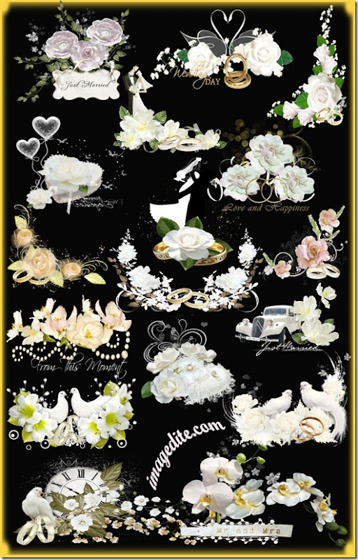 wedding flower clusters elements