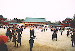 Heian Jingu, Kyoto, Japan, New Year 2002.