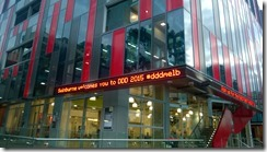 Swinburne University with DDD sign