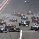 2013 Bahrain F1 GP Race start