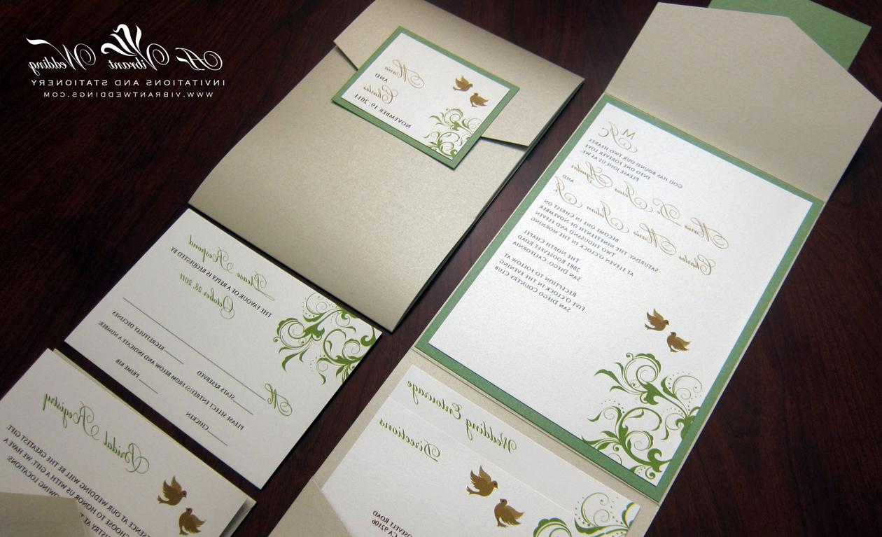 Green and Champagne Wedding
