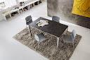 Table fixe bois et métal