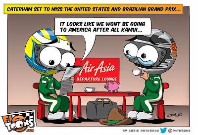 Caterham пропускает этапы в США и Бразилии - комикс Chris Rathbone перед Гран-при США 2014