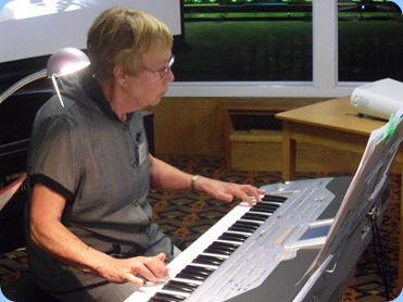 Yvonne Moller playing her Korg Pa1X.