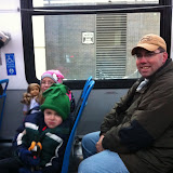 Riding the bus in downtown Chicago 01152012a