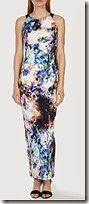 Karen Millen Blurred Photographic Print Maxi Dress