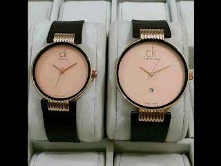 jam tangan CK kulit tgl Couple gold