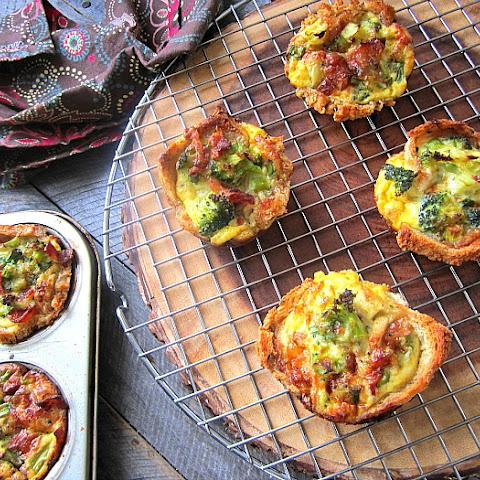 Quiche Toast Cups w/ Broccoli & Bacon