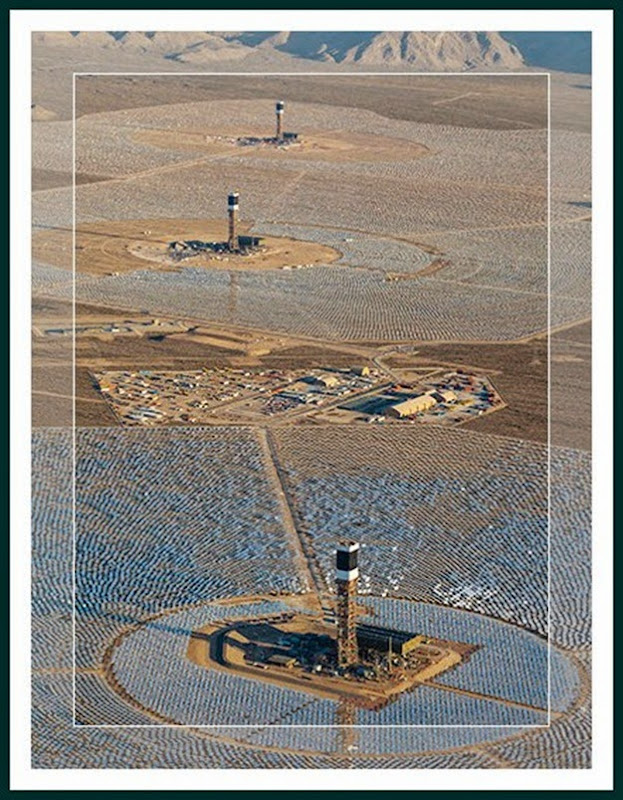 Areial View of Ivanpah plant