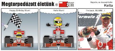 Льюис Хэмилтон побеждает за McLaren на Гран-при Абу-Даби 2011 - комикс Kelta