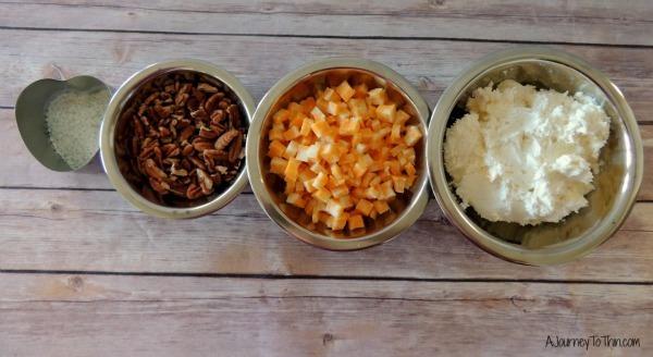 Creamy Ranch Cheese Ball Appetizer Recipe - 2 Weight Watchers PointsPlus #SmarterTreats Ingredients 2