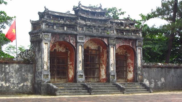 Gates to a royal tomb.