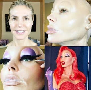 The making of Heidi Klum as Jessica Rabbit
