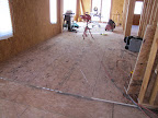 March 16 - Master BR, Exercise subfloor installed