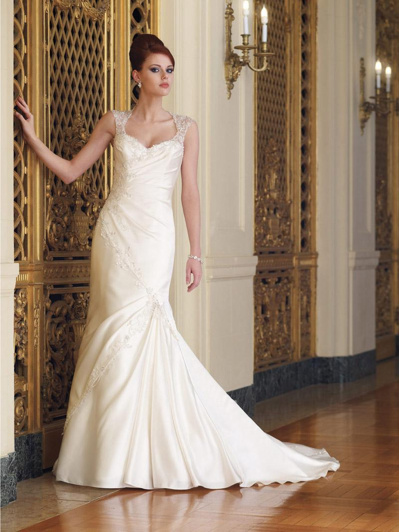 Cap sleeves wedding dresses
