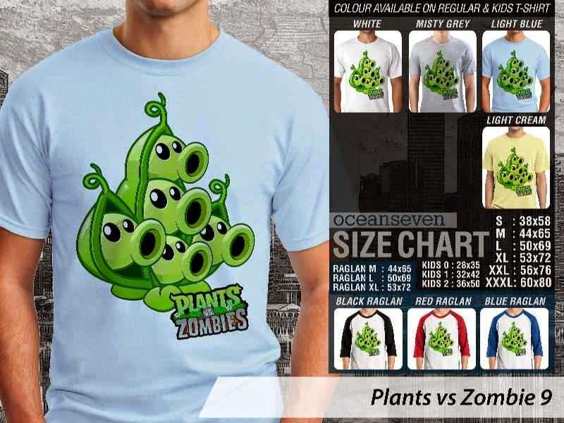 KAOS Plants VS Zombie pvz 9 Game Lucu distro ocean seven