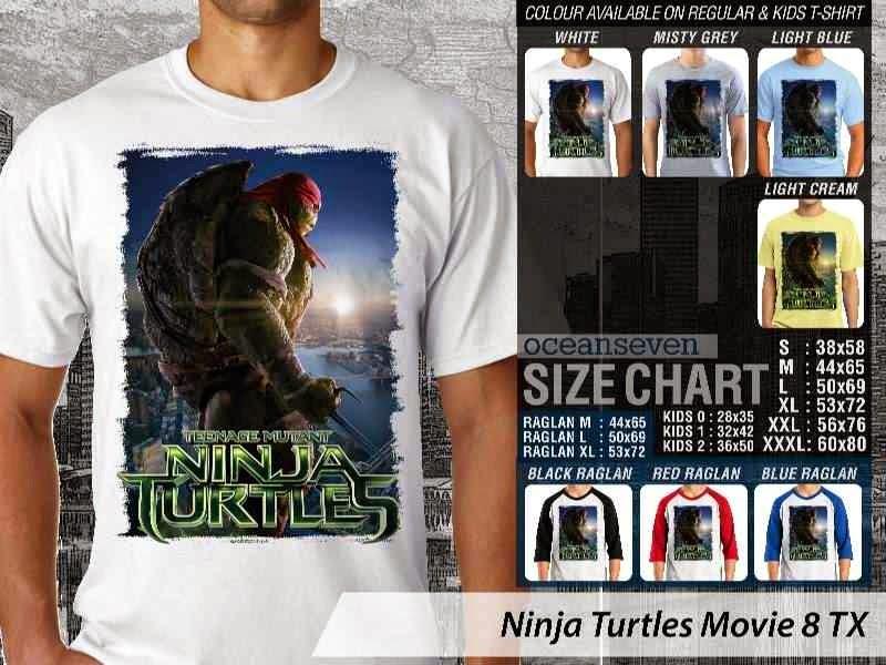 Kaos Movie Film Ninja Turtles Movie 8 distro ocean seven