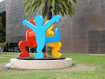 The Keith Haring sculpture from the ground