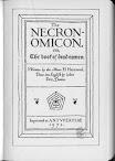 Necronomicon Wilson Hay Turner Langford Version