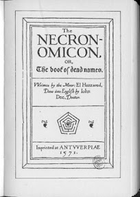 Cover of Abdul Alhazred's Book Necronomicon Wilson Hay Turner Langford Version