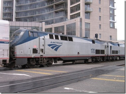 IMG_9883 Amtrak P42DC #170 at Union Station in Portland, Oregon on October 22, 2009