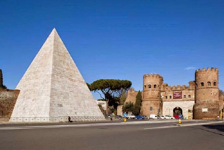 Italy: Rome Pyramid restored to gleaming white glory