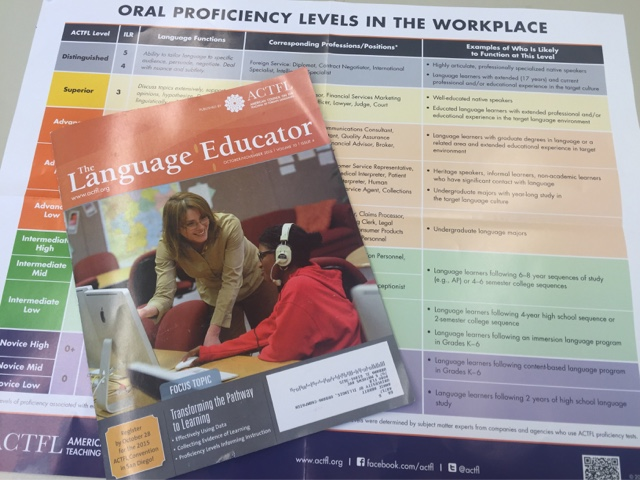 The Language Educator Volume 10.4 and the Poster on Oral Proficiency in the Workplace