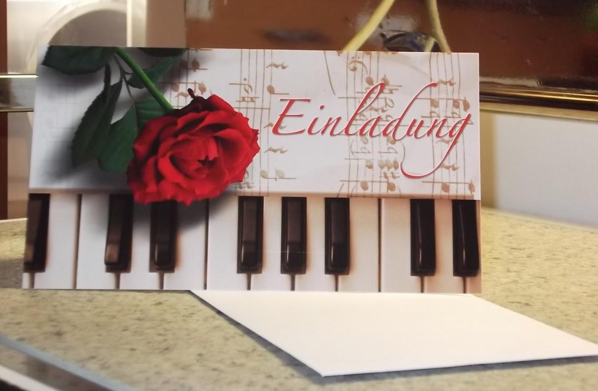 Einladungskarten Einladung Karte Blumen Motive mit Kuvert Party ... - Einladungskarte Sonnenblume
