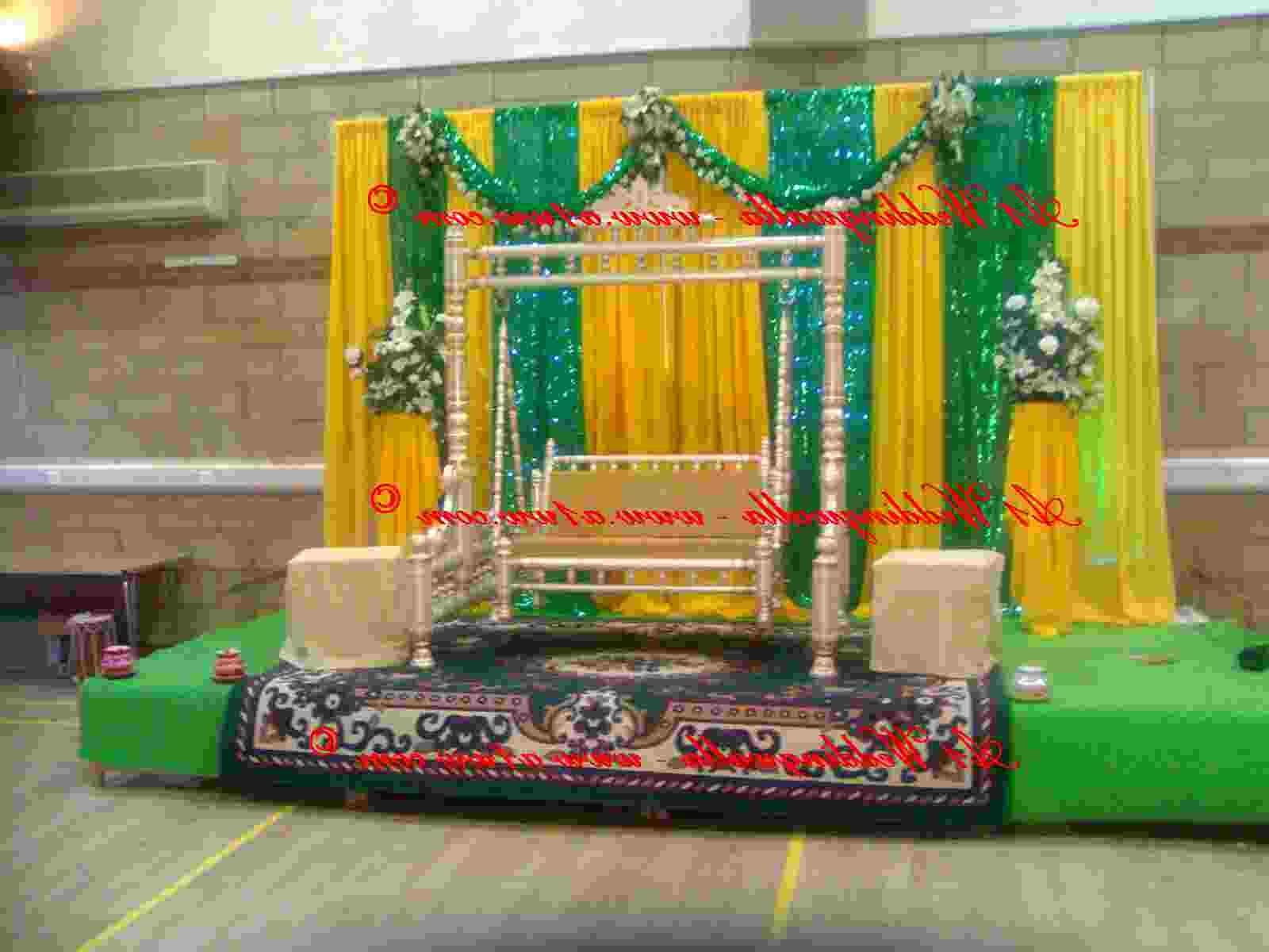 Simple Mehndi Decoration At Home : New wedding stage decoration simple