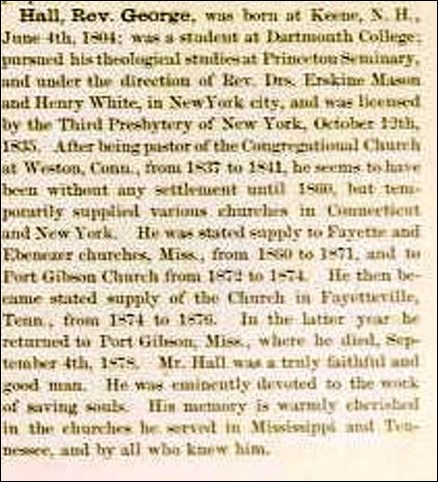 Copy of Encyclopedia of the Presbyterian Church in the US_pg 289_HALL_Rev George_cropped