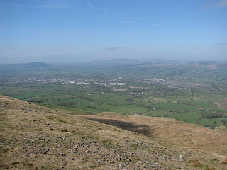 Clitheroe from Pendle Hill