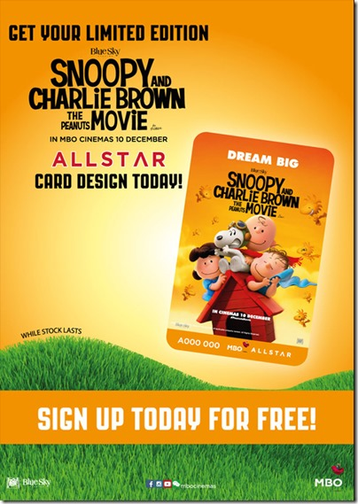 MBO The Peanuts Movie Charlie Brown and Snoopy Member Card
