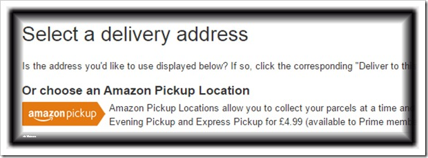 select delivery address
