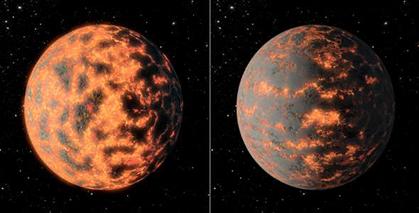 ilustração da super-Terra 55 Cancri