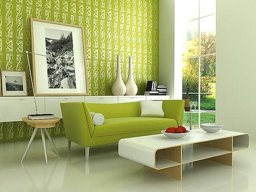 farbgestaltung - 21 tipps für harmonisch grüne wohnräume - Wohnzimmer Deko Grun