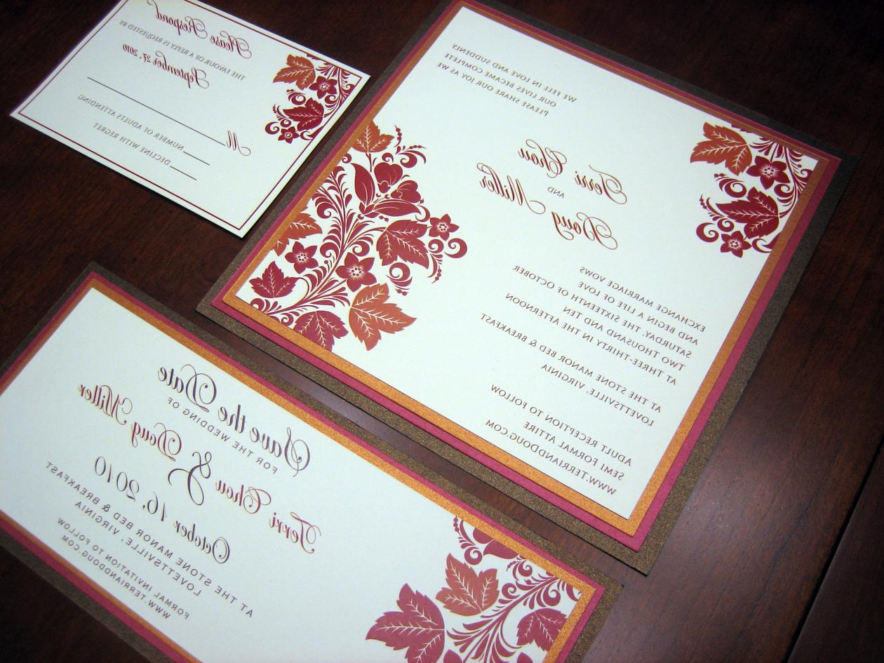 bush wedding invitations