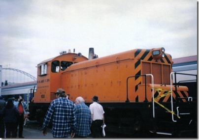 Portland Traction Company SW1 #100 at Union Station in Portland, Oregon on May 11, 1996