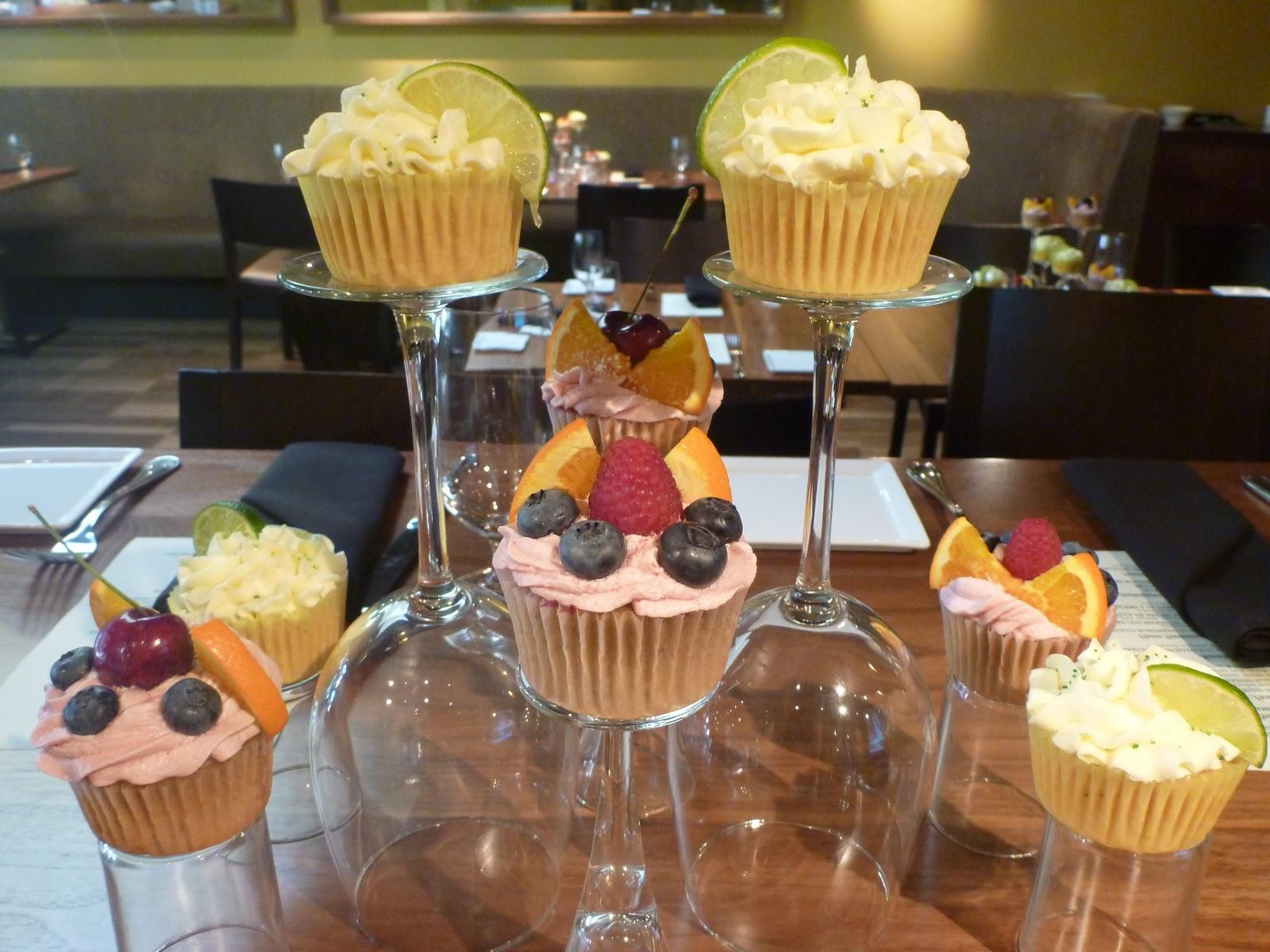 With the margarita cupcakes at