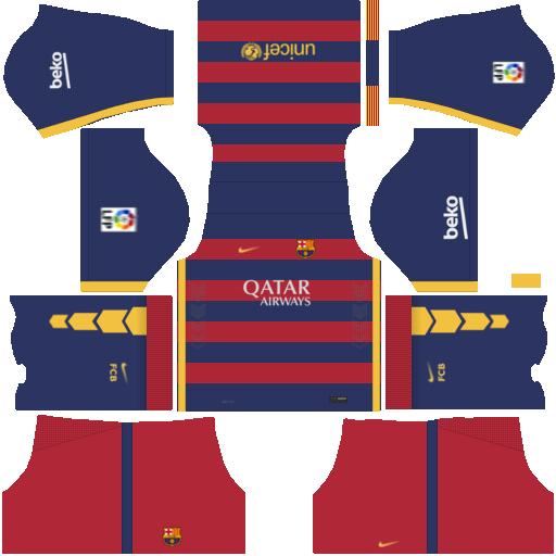 Kits y Logo | Barcelona 2016-2017 | Dream League Soccer 2016 - YouTube