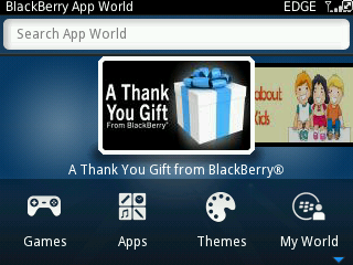 BlackBerry Thank You Gift