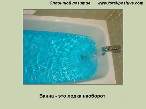 Вода наливается в ванну