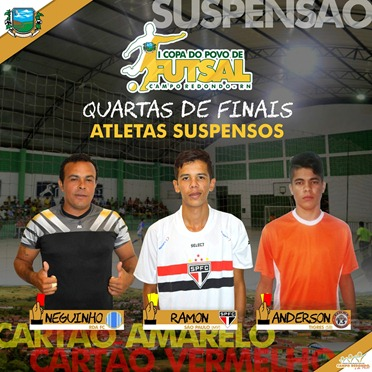 I COPA DO POVO DE FUTSAL - SUSPENSOS