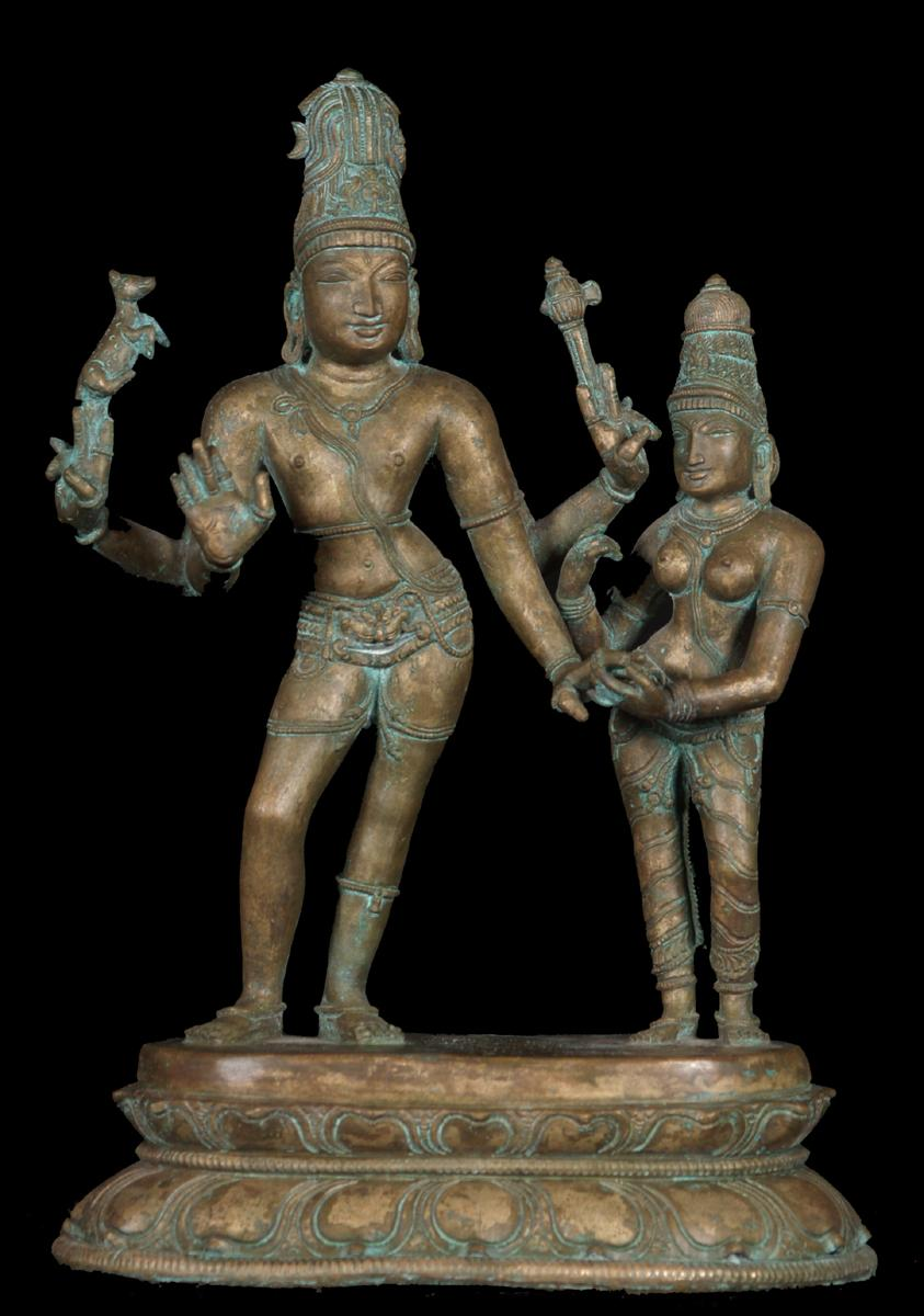 Bronze Shiva and Parvati