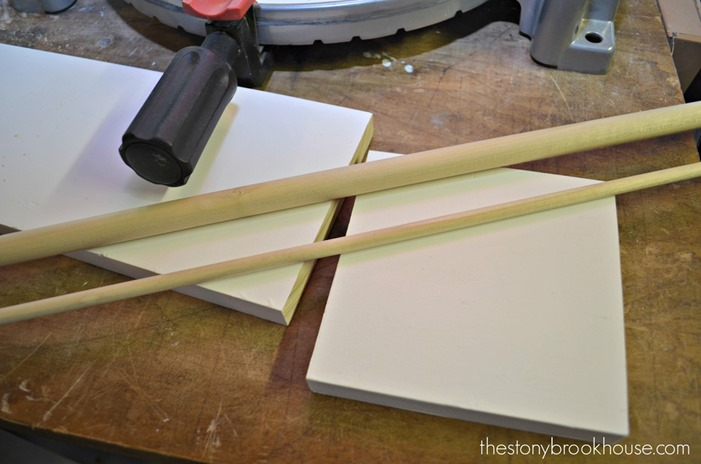 Base and Dowels for Advent Tree