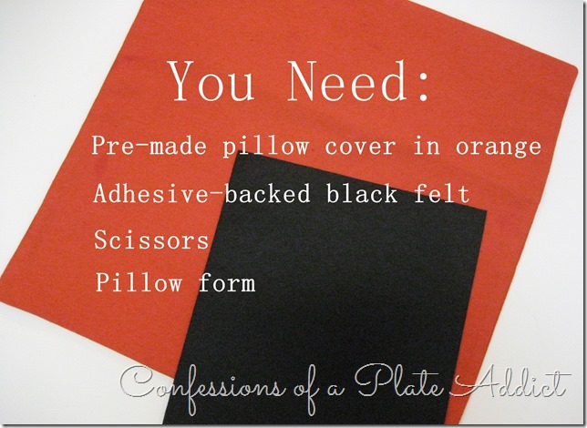CONFESSIONS OF A PLATE ADDICT Easy Halloween Pillow Supplies