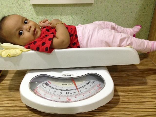 Berat baby Amal 6 bulan