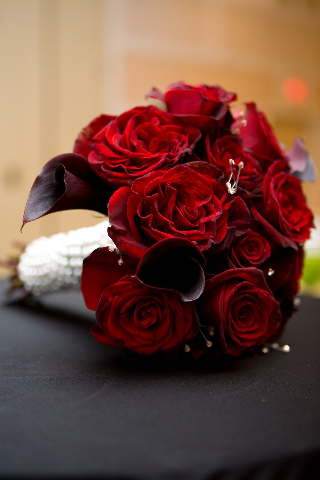 black white red wedding