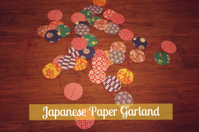 japanese paper origami garland